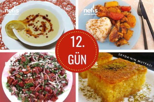 12. gün iftar menüsü