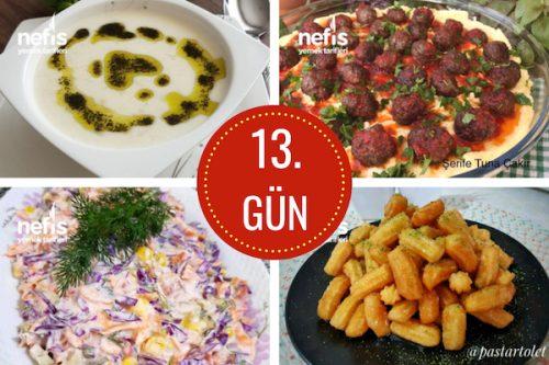 13. gün iftar menüsü