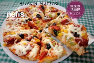 15 Dakikada Tavada Pizza Tarifi