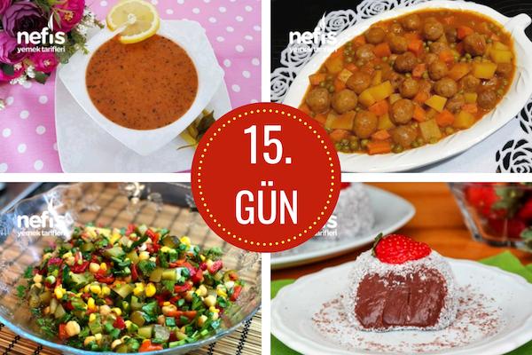 15. gün iftar menüsü