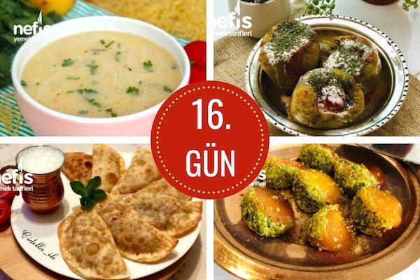 16. gün iftar menüsü