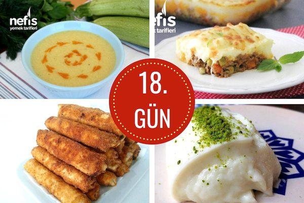 18. gün iftar menüsü