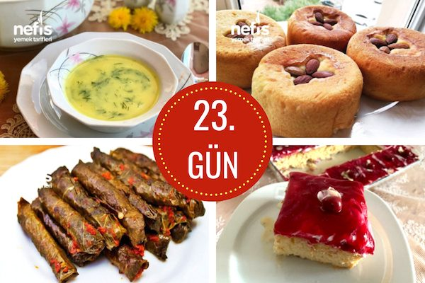 23. gün iftar menüsü