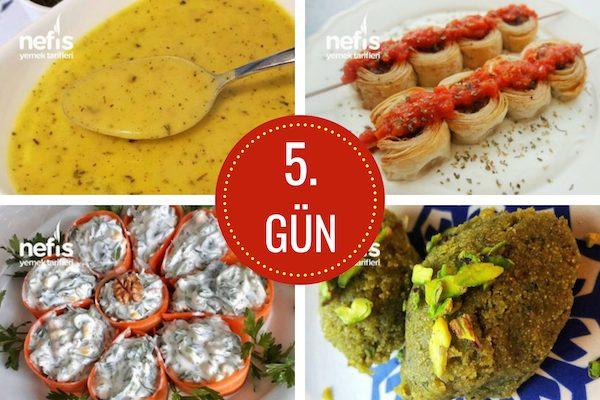 5. gün iftar menüsü