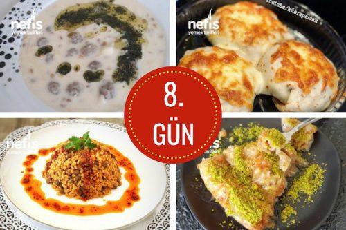 8. gün iftar menüsü