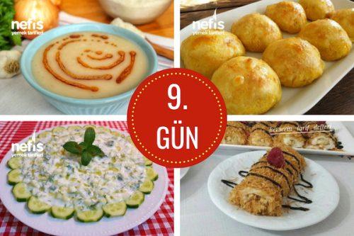 9. gün iftar menüsü