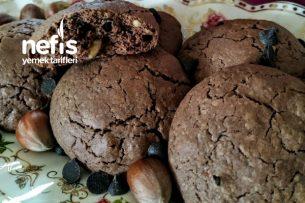 Fındıklı Ve Damla Çikolatalı Kurabiye (Hanımeller) Tarifi