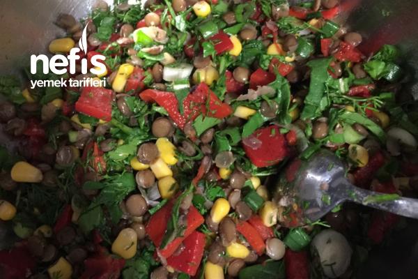 Yeşil Mercimek Salatası(sahura Yakışacak)