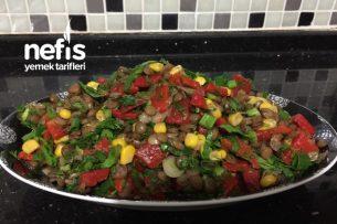Yeşil Mercimek Salatası (Sahura Yakışacak) Tarifi