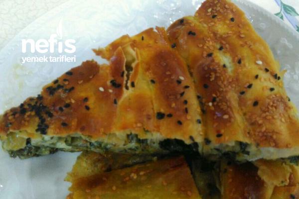 Teremyağlı Ispanaklı Peynirli Kol Böreği Tarifi