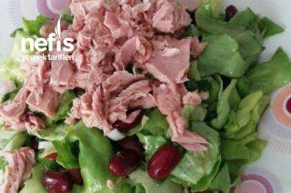 Ton Balıklı Kırmızı Fasülyeli Sağlıklı Salata Tarifi
