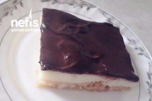 Muhallebi Ve Çikolata Soslu Etimek Tatlısı Tarifi