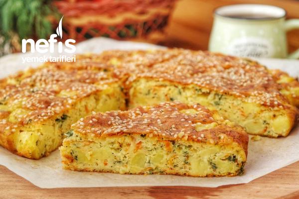 5 Dakikada Hazır- Sebzeli Kek Tarifi (videolu)