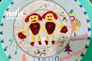 Çocuklar İçin Meyve Tabağı (Süslü Tabak) Tarifi