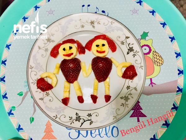 Çocuklar İçin Meyve Tabağı (süslü Tabak)