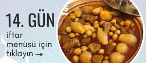 14. gün iftar menüsü