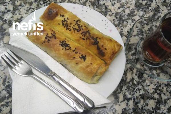 Ispanaklı Peynirli Dilim Börek Tarifi