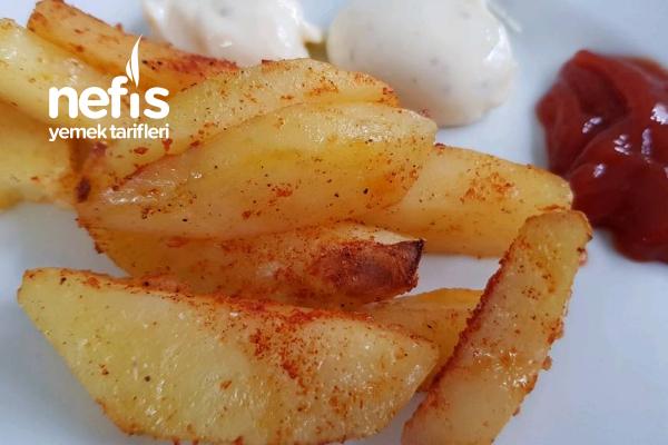 Fırında Baharatlı Patates (Nişastası Alınmış) Tarifi