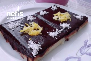 Limonlu Çikolata Soslu İrmik Tatlısı Tarifi