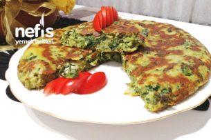 Yufkasız Ispanaklı Tava Börek (omlet) Tarifi