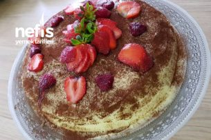 Çilekli Enfes Pratik Yaş Pasta Tarifi