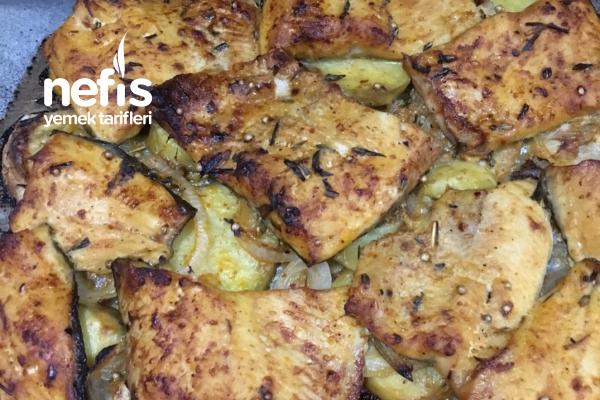 Fırında Alabalık (Patates Ve Soğan Yatağında) Tarifi