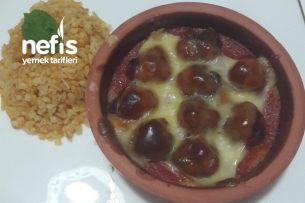 Güveçte Patates Püreli Fırında Köfte (Özellikle İftar İçin Pratik Ve Leziz) Tarifi