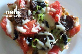 Bayat Pideden Sahur İçin Pratik Pizza Tarifi