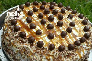 Karamelli Çikolatalı Yaş Pastam (Kolay Ama Şahane) Tarifi