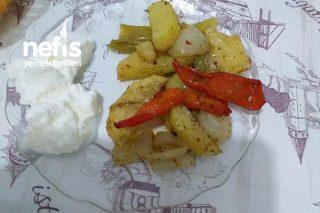 Fırında Patates Biber Soğan Tarifi