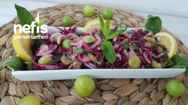 Mor Lahana Ve Erik Salatası