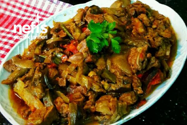 Patlıcanlı Etli Güveç (Lokum Gibi) Tarifi