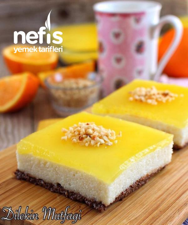 Portakal Jöleli Sütlü İrmik Tatlısı(çok kolay çok lezzetli)