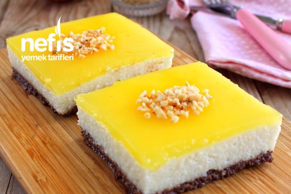 Portakal Jöleli Sütlü İrmik Tatlısı (Çok Kolay Çok Lezzetli)