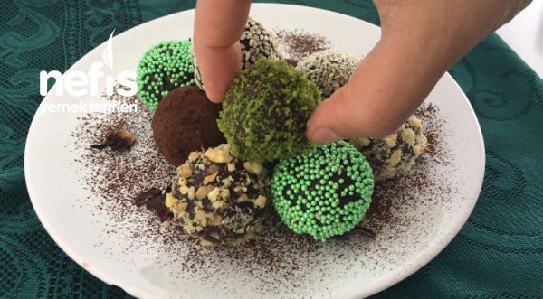 Teremyağlı Bisküvili Atıştırmalık Toplar ( Videolu )