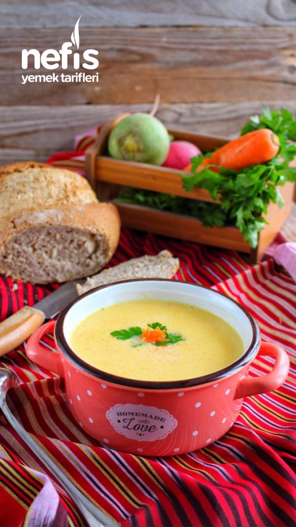Teremyağlı Havuçlu Patates Çorbası