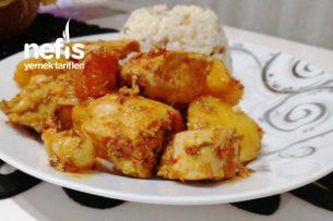 Düdüklü Tencerede Tavuklu Patates Yemeği (Tam Kıvamında) Tarifi