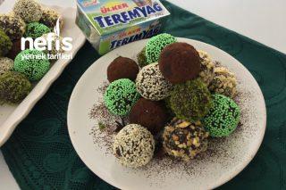 Teremyağlı Bisküvili Atıştırmalık Toplar (Videolu) Tarifi
