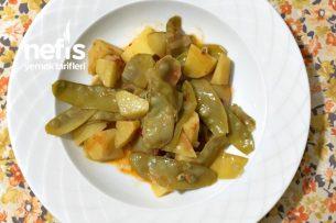 Zeytinyağlı Patatesli Bezelye Yemeği Tarifi