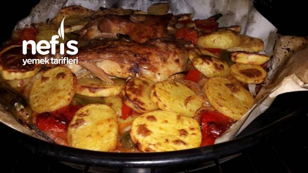 Fırında Bagetli Patates Tavasi