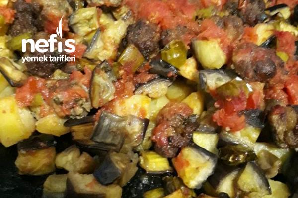 Fırında Patatesli Patlıcan Tarifi