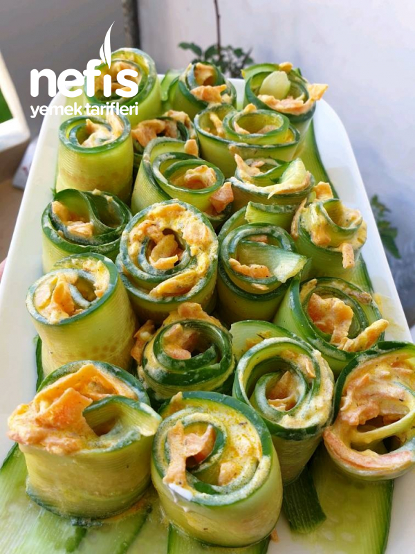 Havuçlu Salatalık Rulosu Fresh Bir Lezzet