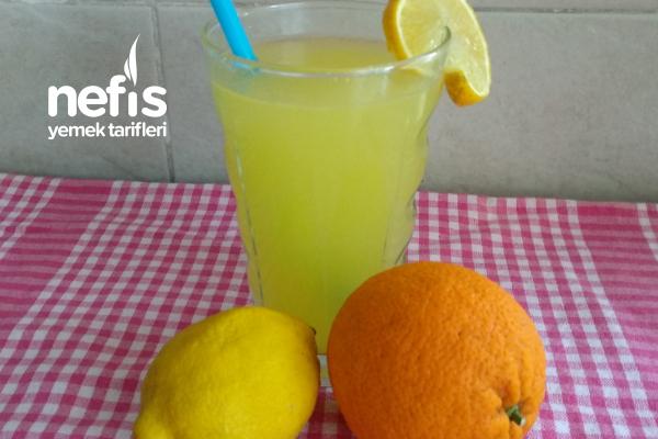 Limonata (Yarım Portakal Ve Yarım Limon İle 3 Litre) Tarifi