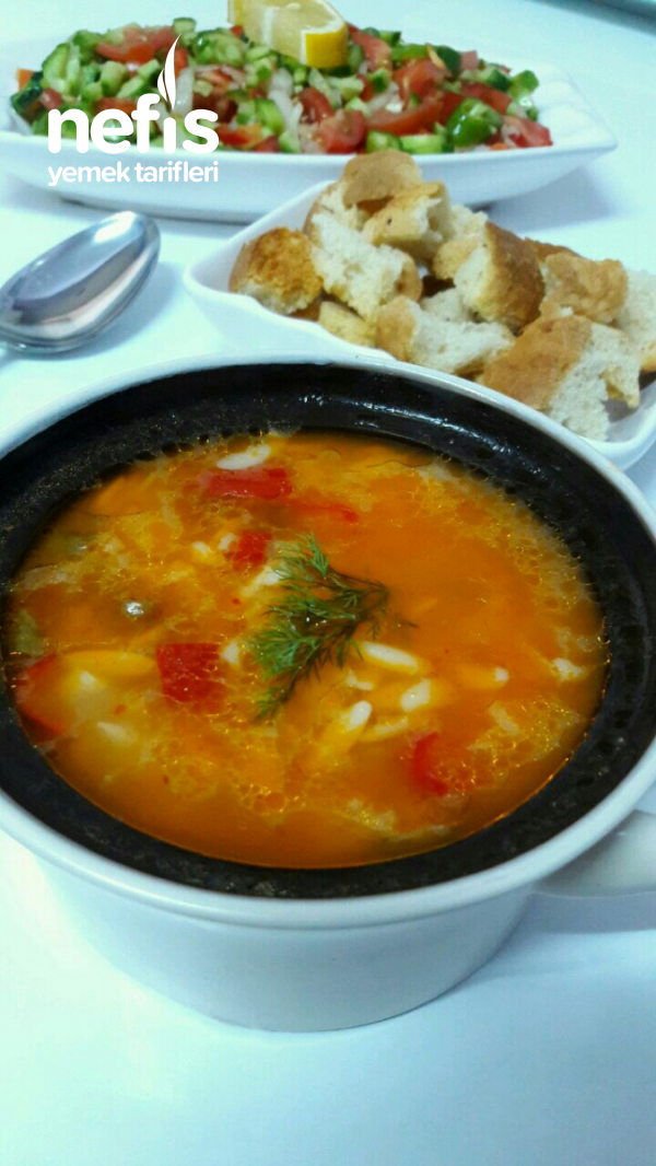 Patatesli,arpa Şehriyeli ,çorba (muhteşem Lezzetli,