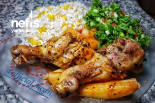 Fırında Nar Gibi Kızaran Tavuklu Patates Tarifi