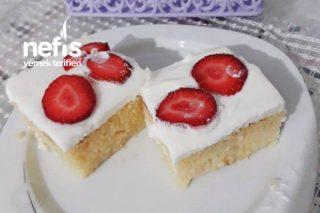 Süt Şerbetli Pamuk Pasta Tarifi