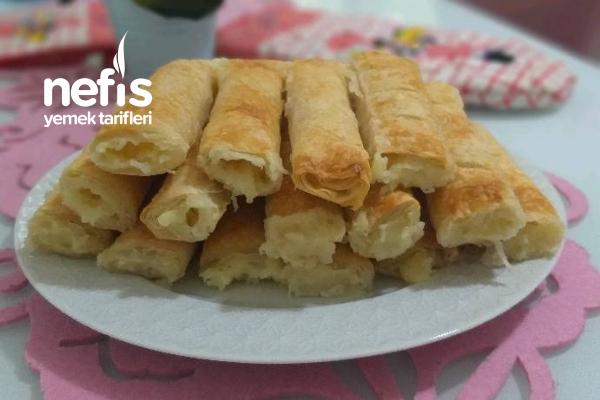 Baklavalık Yufkadan Patatesli Peynirli Çıtır Börek Tarifi