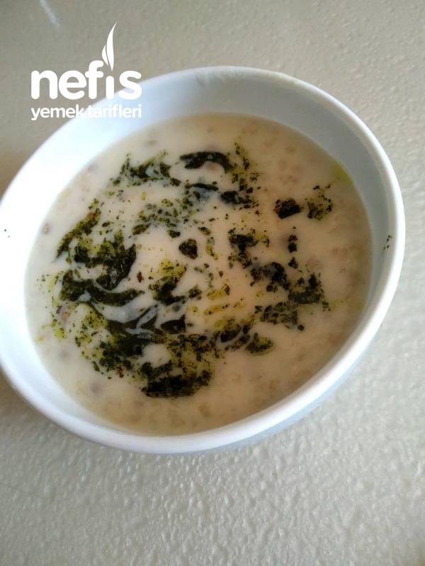 Yeşil Mercimekli Yoğurtlu Yarma Çorbası