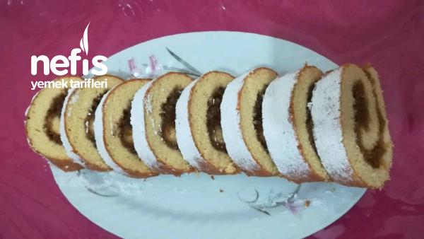 Elmalı Rulo Kek