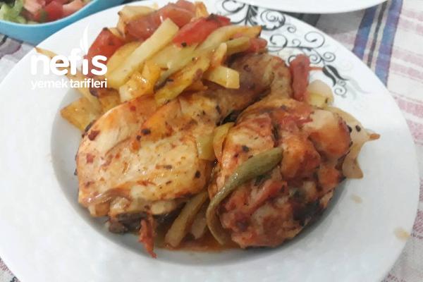 Fırında Soslu Patatesli Tavuk Tarifi